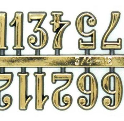 Numerals - Arabic 25mm Gold