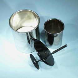 Calorimeter Cup, Inner/Outer, Pair, Lid &Stirrer