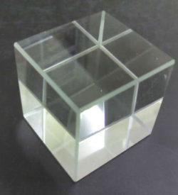 Cube Glass White 31x31x31mm