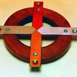 Conductivity Ring  4 Metals On Wood Ring