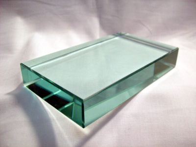 Prism Clear Glass Rect. Block 115x65x18mm