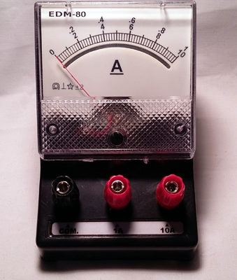 Ammeter Dual Range 0-1/10A DC Analogue
