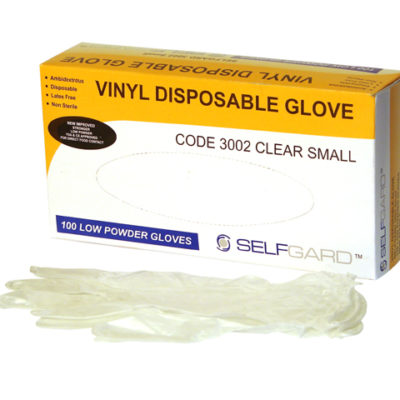 Glove Vinyl Pk/100 Lightly Powdered Medium