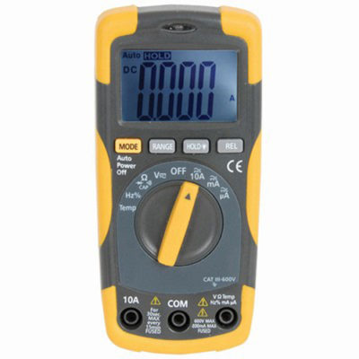 Multimeter with Temperature and Capacitance