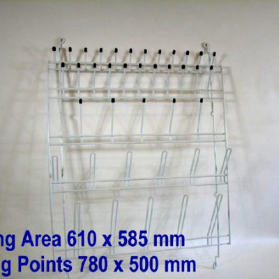Rack Wire Draining Glassware Wallmount