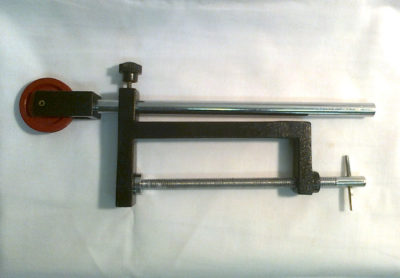 Pulley On Clamp Benchmount 110mm Opening