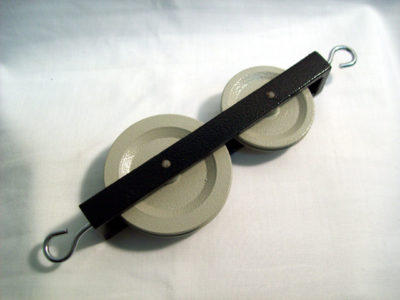 Pulley Metal Double In Line 50 & 40mm