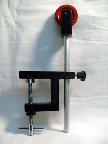Pulley Single 38mm Diam. W/ Rod & Clamp (33mm opening)