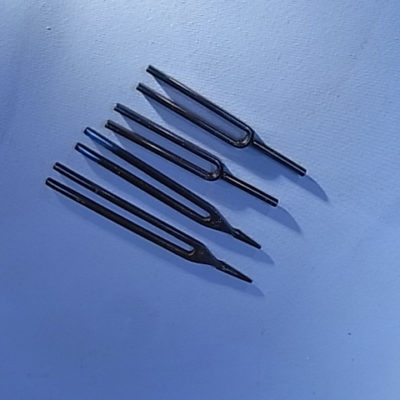 Tuning Fork, Blued Steel, B, 480Hz