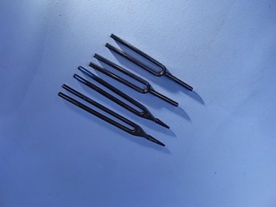 Tuning Fork, Blued Steel, F, 341.3Hz