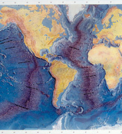 Ocean Floor Relief Map w/Activity Guide