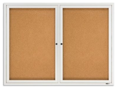 Lockable Notice Board Cabinet