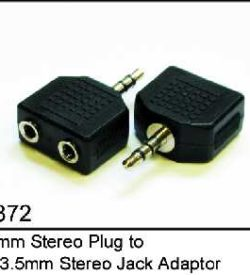 Audio Adapter - 3.5mm Stereo Jack to 2 x 3.5mm Stereo Sockets