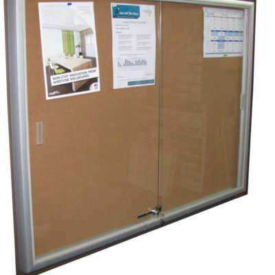 LOCABLE NOTICE BOARD CABINET (900 X 1200)