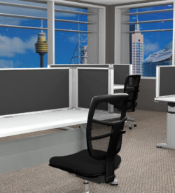 Desk Mounted Partition (450 x 1460)