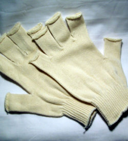 Glove Cotton Knit Fingerless (Pair)