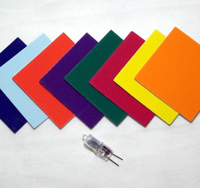 Coloured Card  Set/8 with Lamp for 48LBE