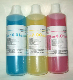 pH Calibration Buffers Pack/3, Colour-Coded