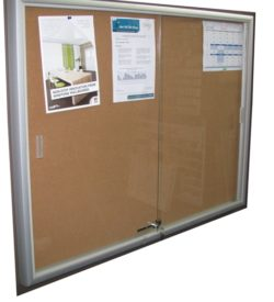 LOCABLE NOTICE BOARD CABINET (1200 X 1200)